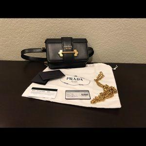 Sold. Prada Cahier Leather Belt Bag /Crossbody Bag